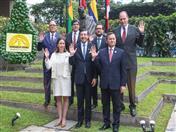 Autoridades de los países de la CAN y de la Secretaría General rindieron homenaje al Libertador Simón Bolívar por los 50 años de la Comunidad Andina.