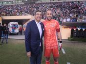 Secretario General de la CAN, Jorge Hernando Pedraza y David Ospina, arquero de la Selección Nacional de Fútbol de Colombia.