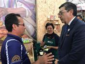 Secretario General de la CAN y beneficiarios de proyecto promovido por la Comunidad Andina y la Unión Europea.