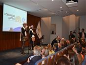"""""""Peluza y Orejón"""" reconocidos trovadores colombianos ofrecieron recital en la Secretaría General de la CAN."""