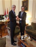 Secretario General de la CAN, Jorge Hernando Pedraza y Embajador de Perú en Argentina, Peter Camino.