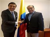 Secretario General de la CAN, Jorge Hernando Pedraza y Embajador de Colombia en Argentina, Álvaro Pava.