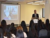 La bienvenida a los estudiantes estuvo a cargo del Jefe de Gabinete, Reinaldo Rincón