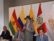Intervención del Rector de la UASB Bolivia, José Luis Gutiérrez.