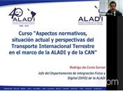 Curso sobre Aspectos normativos, situación actual y perspectivas del Transporte Internacional Terrestre