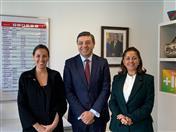 Secretario de la CAN, Jorge Hernando Pedraza, Directora de la Agencia Presidencial de Cooperación de Colombia, Ángela Ospina y Directora de Oferta, Catalina Quintero.
