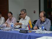 Ministro de Comercio de Colombia, José Manuel Restrepo y Viceministro de Comercio Exterior de Ecuador, Diego Caicedo.