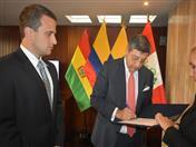 El Secretario General de la Comunidad Andina, Jorge Hernando Pedraza se reunió el Embajador de la República Bolivariana de Venezuela en el Perú, Carlos Scull.