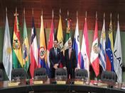 Reunión del Secretario General de la CAN, Jorge Hernando Pedraza con el Secretario General de la Asociación Latinoamericana de Integración (Aladi), Alejandro de la Peña.