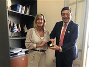 Reunión del Secretario General de la CAN, Jorge Hernando Pedraza con la Directora de la Secretaría del Mercosur, María Fernanda Monti.