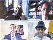 Reunión con Embajadores andinos en Bolivia.