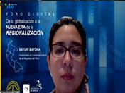 Viceministra de Comercio Exterior de Perú, Sayuri Bayona.