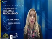Viceministra de Comercio Exterior e Integración de Bolivia, Claribel Aparicio.