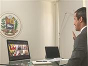 Presidente encargado de Venezuela, Juan Guaidó, participó en calidad de invitado especial.