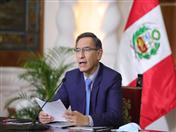 Presidente Martín Vizcarra de Perú.