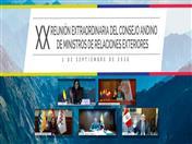Foto Oficial de la XX Reunión Extraordinaria del Consejo Andino de Ministros de Relaciones Exteriores.