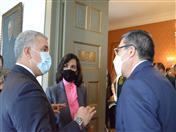 Presidente Iván Duque dialoga con secretario general de la CAN y canciller de Colombia