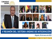 Declaración de la V Reunión de Representantes de Órganos e Instituciones del Sistema Andino de Integración