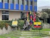 Acto en conmemoración a los 212 años del Primer Grito de Independencia de Ecuador se realizó en la Secretaría General de la CAN