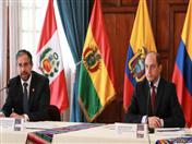Canciller de Ecuador, Mauricio Montalvo y ministro de la Producción, Julio José Prado como PPT CAN